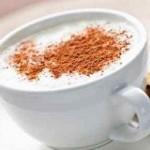 شکلات داغ سفید با طعم کدو حلوایی