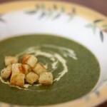 سوپ اسفناج با پنیر چدار