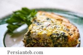 فریتاتای اسفناج و پنیر