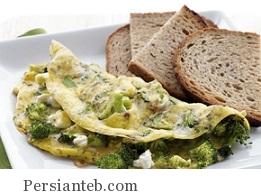omlet borokli persianteb