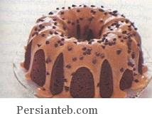 کیک بادام زمینی شکلاتی
