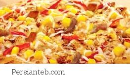 پیتزا مخلوط با انبه