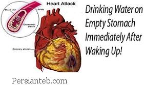 پس از بیدار شدن از خواب، آب نوشید