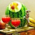 بشکه هندوانه ای نوشیدنی شب یلدا