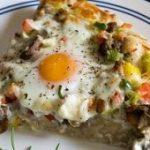 طرز تهیه پیتزای صبحانه در تابه