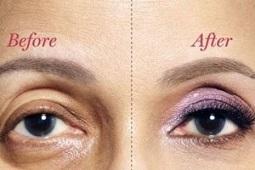آرایش چشم مخصوص افراد دارای افتادگی پلک